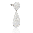 3.53ct Diamond 18k White Gold Dangle Earrings