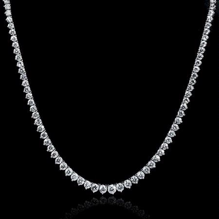 Diamond Platinum Tennis Necklace
