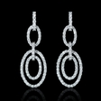 6.23ct Diamond 18k White Gold Dangle Earrings