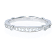 .32ct Simon G Diamond Antique Style 18k White Gold Wedding Band Ring