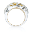 1.63ct Diamond 18k Two Tone Gold Ring
