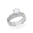 .27ct Simon G Diamond Antique Style 18k White Gold Engagement Ring Setting