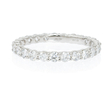 1.15ct Diamond 18k White Gold Eternity Wedding Band Ring
