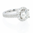 .48ct Diamond Platinum Halo Engagement Ring Setting