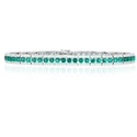 Diamond and Emerald 18k White Gold Bracelet