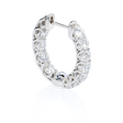 2.42ct Diamond 18k White Gold Huggie Earrings