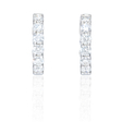 2.91ct Diamond 18k White Gold Huggie Earrings