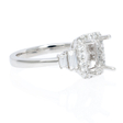 .44ct Diamond Platinum Halo Engagement Ring Setting