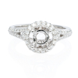 .46ct Diamond Platinum Halo Engagement Ring Setting
