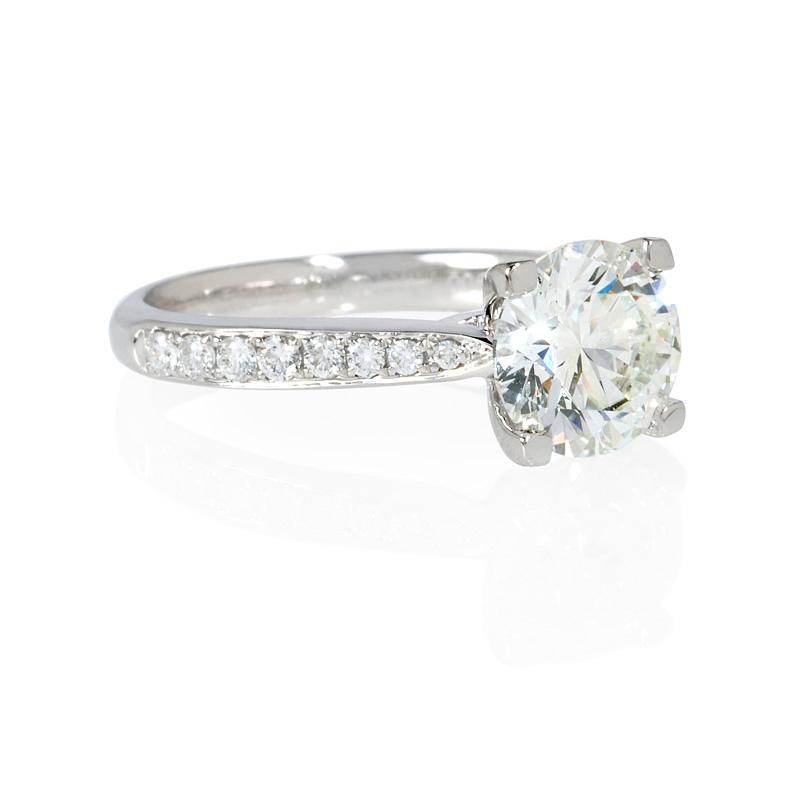 23ct Diamond Platinum Engagement Ring Setting