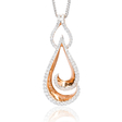 .81ct Simon G Diamond 18k Two Tone Gold Pendant Necklace