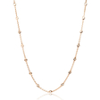.77ct Diamond Chain 18k Pink Gold Necklace