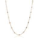 Diamonds by The Yard 18k Pink Gold Necklace