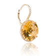 .30ct Diamond and Citrine 14k Yellow Gold Dangle Earrings