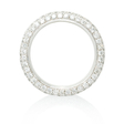 1.67ct Diamond Pave Platinum Four Row Eternity Wedding Band Ring