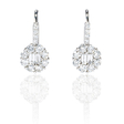 .87ct Diamond 18k White Gold Dangle Earrings