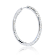 1.91ct Diamond 18k White Gold Hoop Earrings