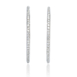 2.24ct Diamond 18k White Gold Hoop Earrings