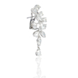 4.70ct Diamond 18k White Gold Dangle Earrings