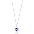 .25ct Diamond and Blue Sapphire 18k White Gold Pendant