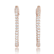 1.38ct Diamond 18k Pink Gold Hoop Earrings