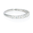 .75ct Diamond 18k White Gold Round Brilliant Cut Shared Prong Wedding Band Ring