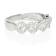 .86ct Diamond 18k White Gold Five Stone Wave Ring