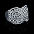 1.51ct Diamond 18k White Gold Swirl Ring