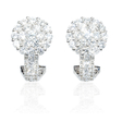 2.07ct Diamond 18k White Gold Earrings