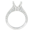 .83ct Diamond Antique Style Platinum Engagement Ring Mounting