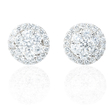 2.11ct Diamond 18k White Gold Cluster Earrings