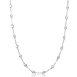 .77ct Diamond Chain 18k White Gold Necklace