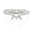 .44ct Diamond Antique Style 18k White Gold Engagement Ring Setting