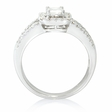 1.24ct Diamond 18k White Gold Ring