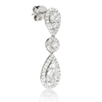 2.23ct Diamond 18k White Gold Dangle Earrings