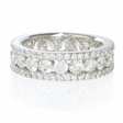 2.81ct Diamond 18k White Gold Eternity Wedding Band Ring