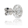 .90ct Diamond 18k White Gold Cluster Earrings