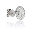 .81ct Diamond 18k White Gold Cluster Earrings