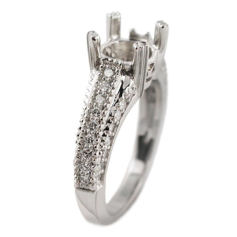 78ct antique style platinum engagement ring setting