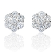 2.02ct Diamond 18k White Gold Cluster Earrings