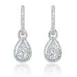 .88ctDiamond 18k White Gold Dangle Earrings