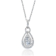 .50ct Diamond 18k White Gold Pendant
