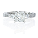 Diamond Antique Style Platinum Engagement Ring Setting