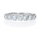 Diamond 18k White Gold Seven Stone Gemlock Wedding Band Ring