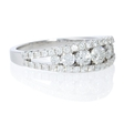 1.06ct Diamond 18k White Gold Wedding Band Ring