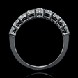 1.01ct Diamond 18k White Gold Round Brilliant Cut Common Prong Wedding Band Ring
