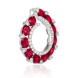 .59ct Diamond and Ruby 18k White Gold Pendant