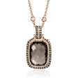 .67ct Diamond and Smokey Topaz 14k Rose Gold Pendant