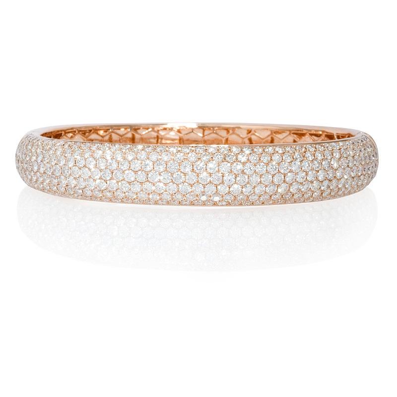diamond 18k rose gold bangle bracelet. Black Bedroom Furniture Sets. Home Design Ideas