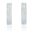 6.40ct Diamond 18k White Gold Hoop Earrings